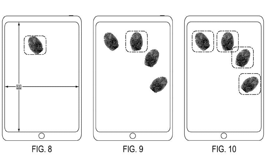 apple Patent fingure print sensor