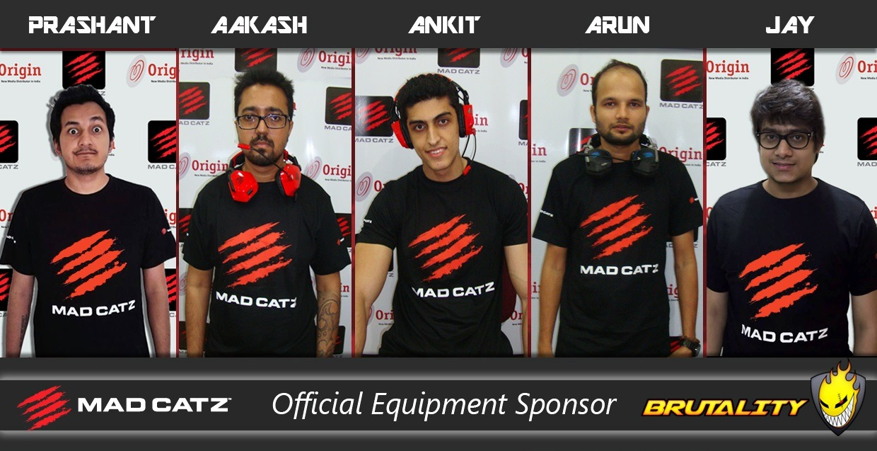From Left to Right: Prashant Prabhakar, Aakash More, Ankit Panth, Arun Kandpal and Jay Shah who are all well-known gamers in the Counter Strike community.