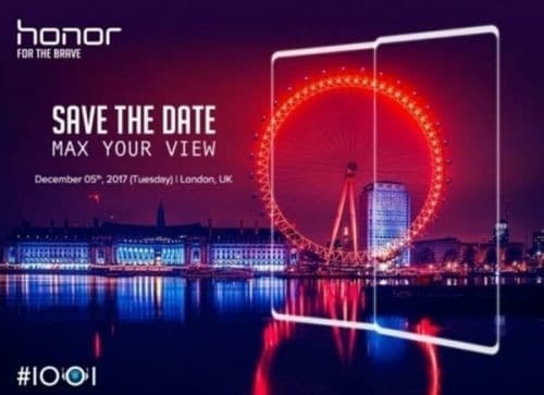 Honor Will Launch A New Smartphone With 18:9 Display On December 5 - Probably The Honor 10