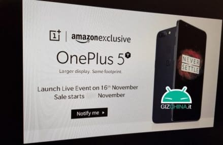 New OnePlus 5T Official Poster Leak Confirms It's Launch On November 16 And Also Confirms The Design!