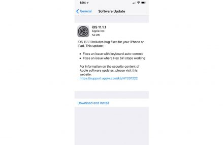 iOS 11.1.1 Update Fix Siri & Keyboard Bug