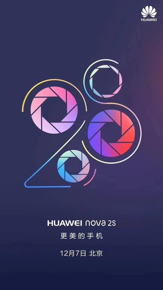 Huawei Nova 2S Will Launch On 7th December In China