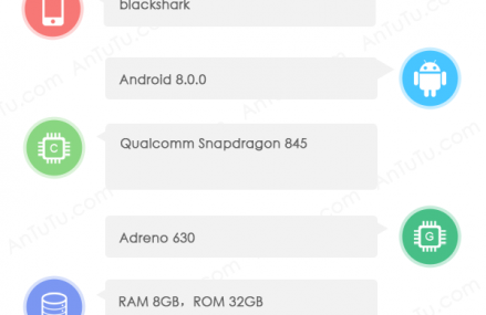 Unknown Device Called Blackshark Passes AnTuTu With Snapdragon 845, 8GB RAM And More
