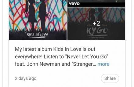 Google Introduces Posts Which Puts Updates From Your Favorite Musicians On Google Search