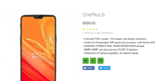OnePlus 6 Got Listed Online For $599 Just Before The Launch