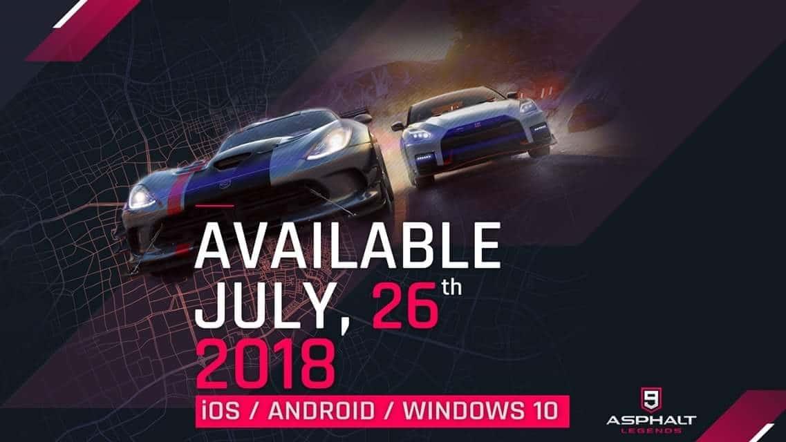 Asphalt 9 release date